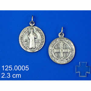 Hecho en Italia San Benito Medalla//San Benito Cross-Med Dorado//Esmaltado
